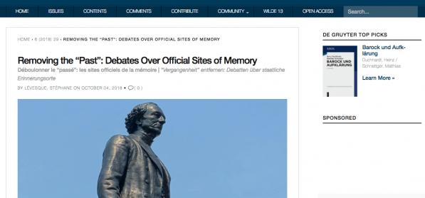 Déboulonner le passé: Analyse des sites officielles de la mémoire -